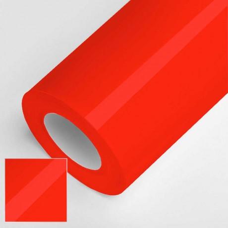 Vinyle brillant rouge fluo